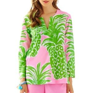 Lilly Pulitzer Amelia Island Tunic Pink Pout